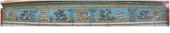 Mural Nove dragões Cidade Proibida