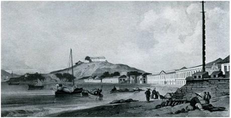 Chinnery Praia Grande com Fortim S. Pedro 1930