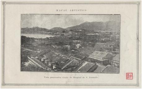 MACAU e o seu porto - Vista de macau do S. Januário