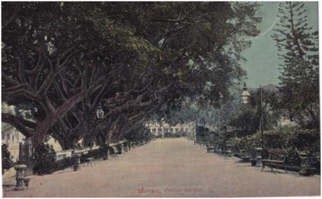 Postal MACAU no Seculo XIX Jardim de Camões