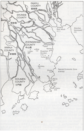 Macau City of Commerce ...Mapa Zhongshan