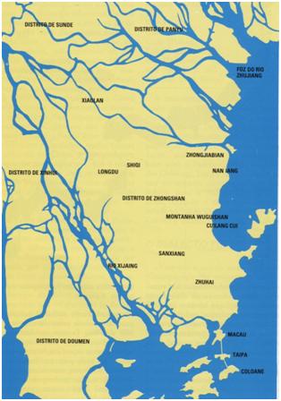 Mapa de Zhongshan