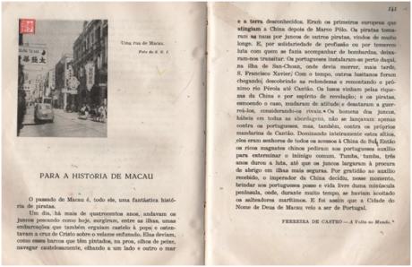 Para a História de Macau Ferreira de Castro I