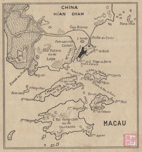 Geografia Primária Mapa Macau 1936