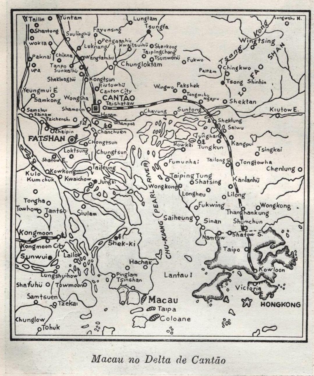 Mapa de Macau 1951 - Semana do Ultramar Português