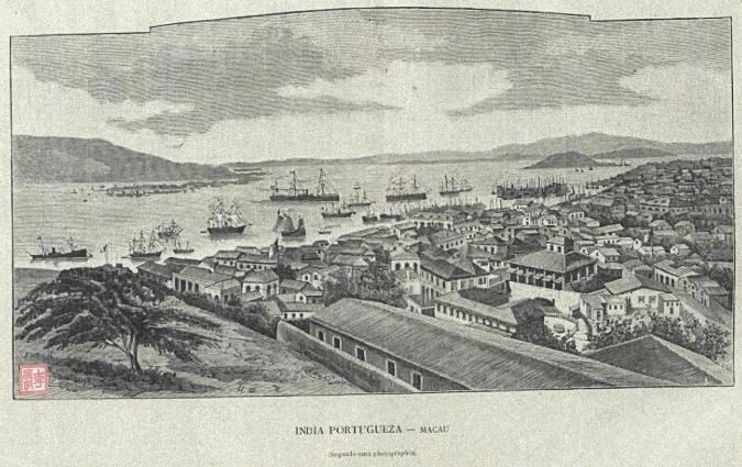 POSTAL DE ÍNDIA-MACAU 1890