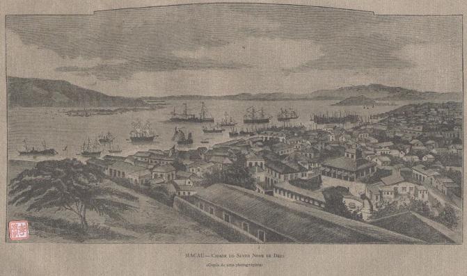 POSTAL DE MACAU Publicado 1897