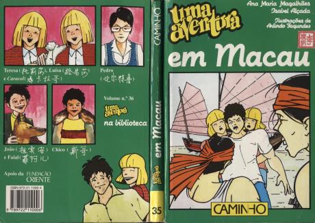 Uma Aventura em Macau Capa + Contracapa