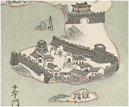 MAPA CHINÊS 1787 - MACAU