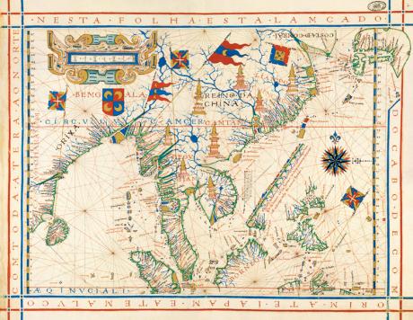 MAPA ÁSIA 1571