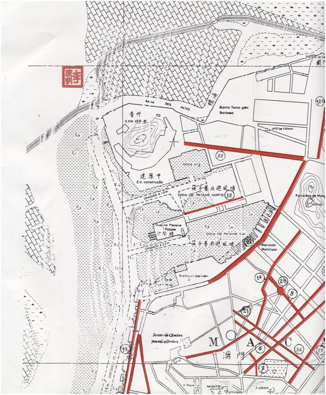 Mapa PATANE, 1984