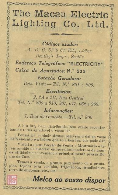Anúncio MELCO, 1950 Português