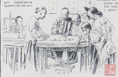 Ilustração Portugueza1908 Macau Cidade de Prazeres Jogo do Fantan