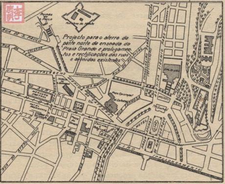 Mapas de Macau 1929 Projecto aterro