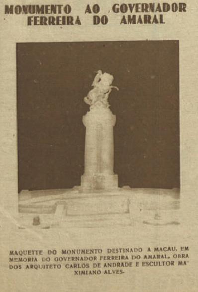 Maqueta Estátua Ferreia do Amaral