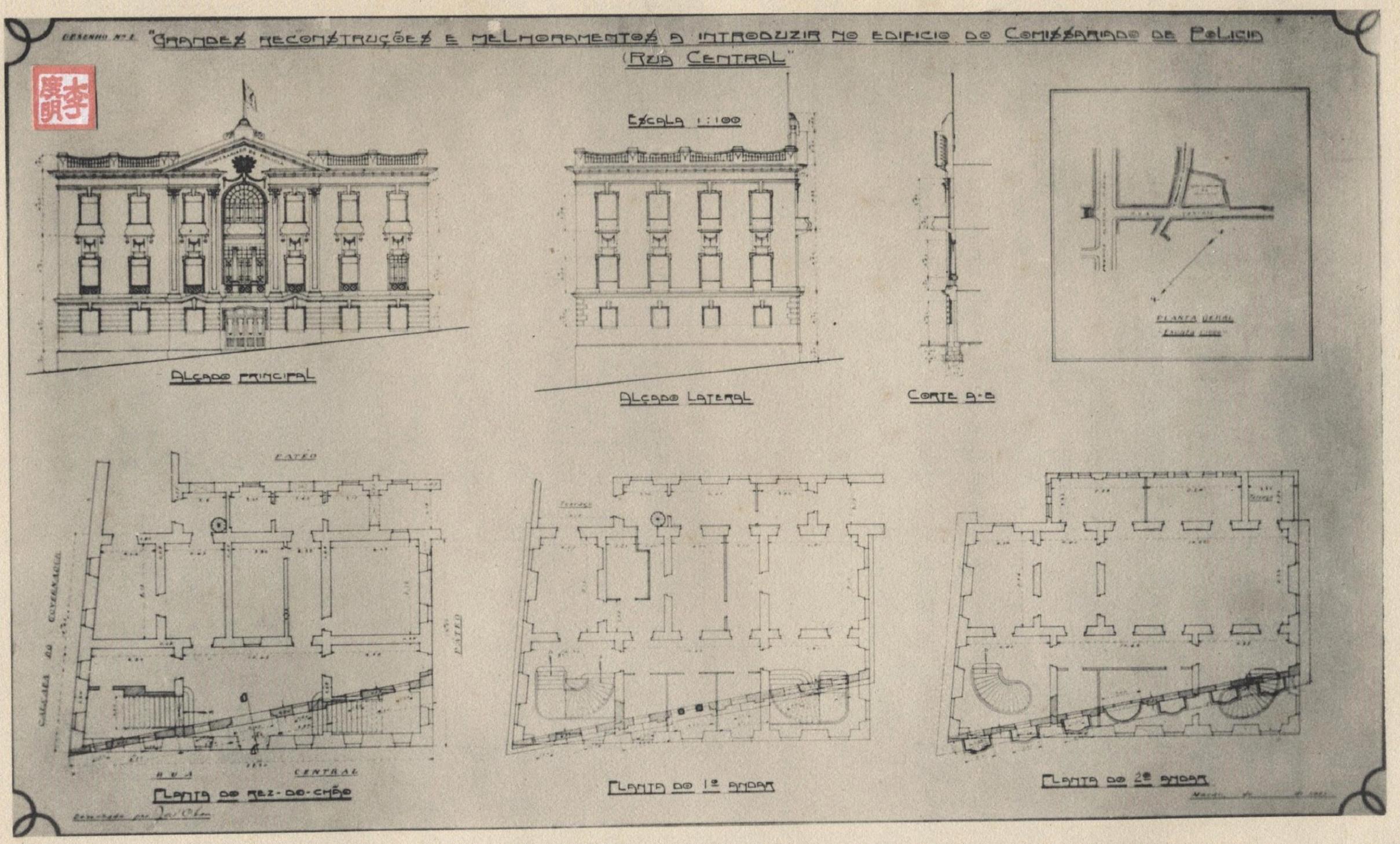 Anuário 1927 Planta do Comissariado Polícia