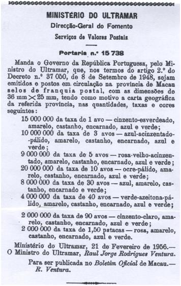 Carta Geográfica 1956 PORTARIA