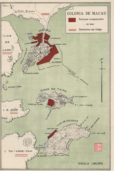 Monografias, Art, Mapas MAPA MACAU 1929