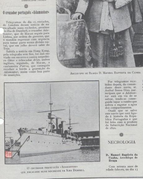 OCCIDENTE n.º 1238 ADAMASTOR I 1913