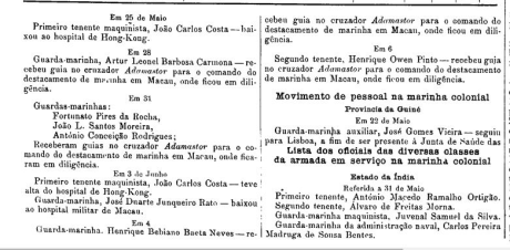 Pessoal Estação Naval de Macau DR n.º 199-1913 I