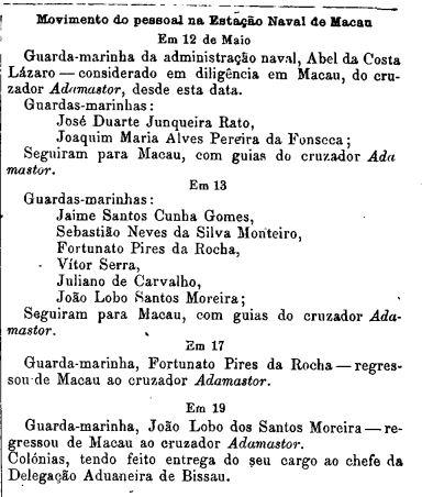 Pessoal Estação Naval de Macau DR n.º 199-1913 II