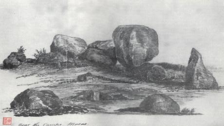 Pintura de 1831-1832 - Penedos do Patane