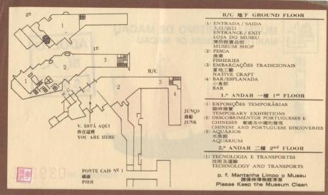 Bilhete do Museu Marítimo II verso