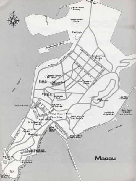 Mapa de Macau 1975