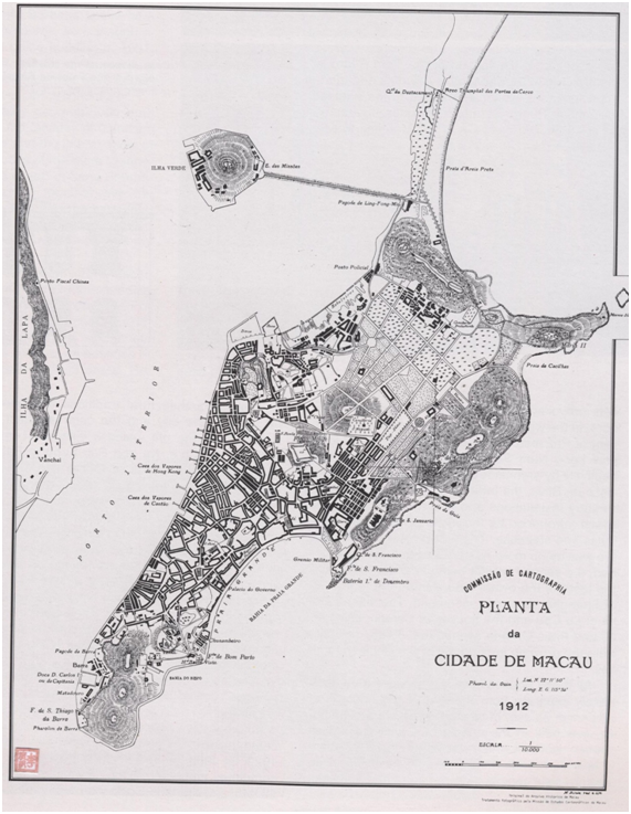 Planta da cidade de Macau 1912
