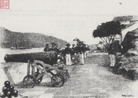 Dentro da Fortaleza de S. Tigo1888