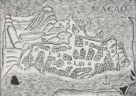 Mapa Macau dps 1622