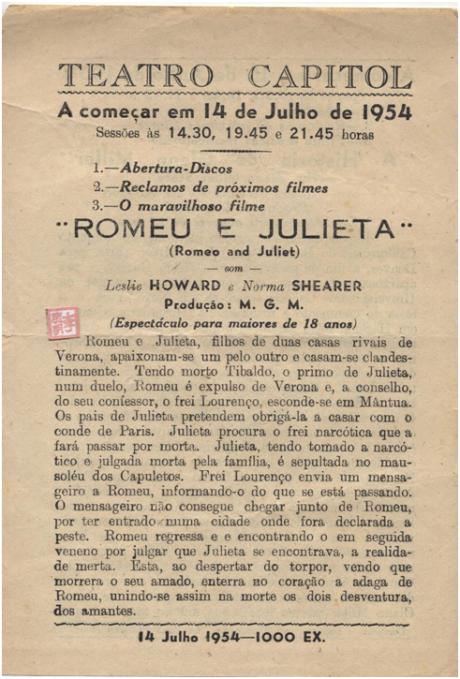 Teatro Capitol Romeu e Julieta