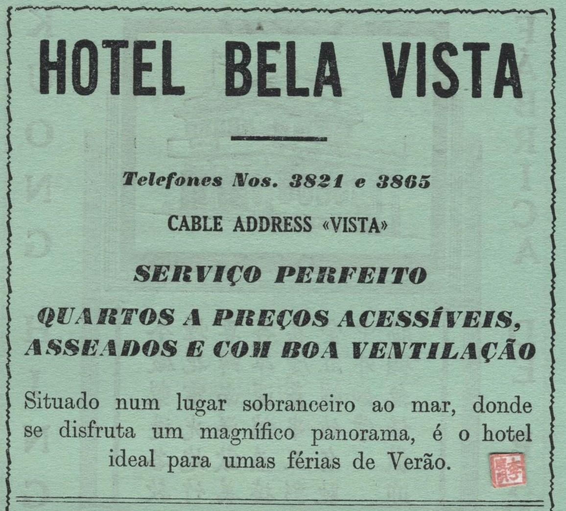 ANÚNCIO Hotel Bela Vista 1957