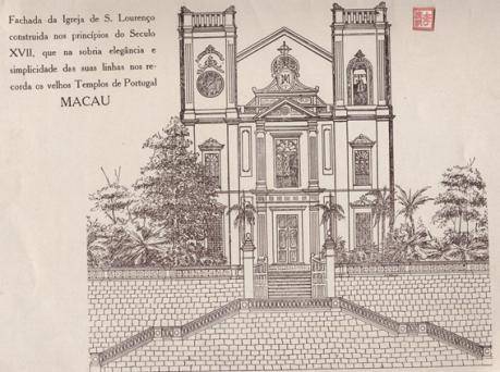 Pe. TEIXEIRA - Paróquia de S. Lourenço Desenho Fachada