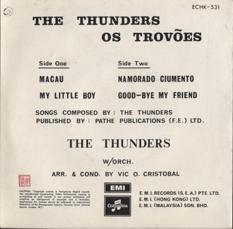 The Thunders MACAU contra capa