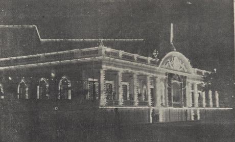 Clube Militar  iluminado 1960