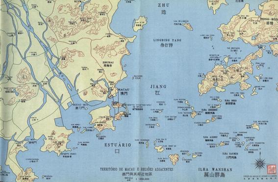Roteiro das Ilhas -Ilda da Taipa Mapa do Território