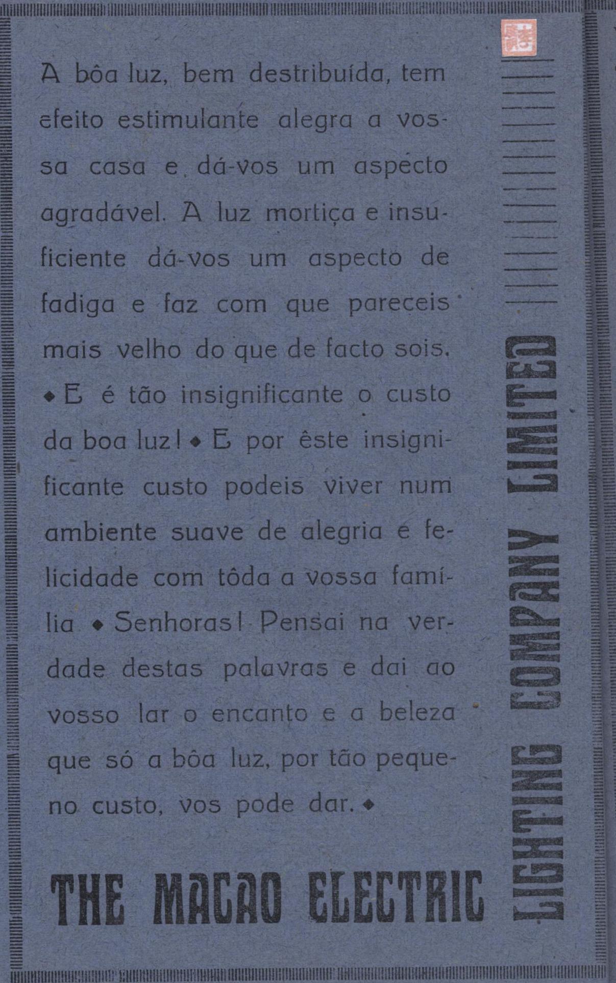 Anúncio MELCO 1940 português