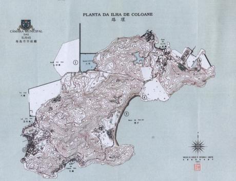 COLOANE Mapa Turístico 1991Planta da ilha