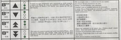 Mapa para Tufões  1980 Código 8