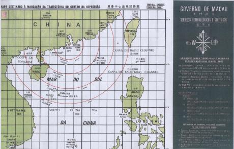 Mapa para Tufões  1980 I