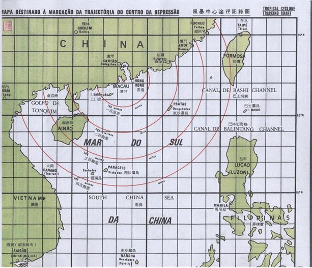 Mapa para Tufões  1980 II