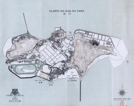TAIPA Mapa Turístico 1991 Planta da Ilha