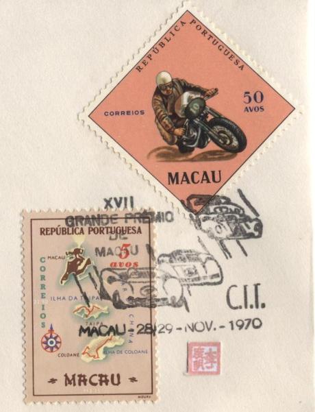 XII Grande Prémio de Macau 28-29NOV1970 Selos