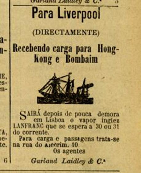 Anúncio de 1891 Diário Ilustrado