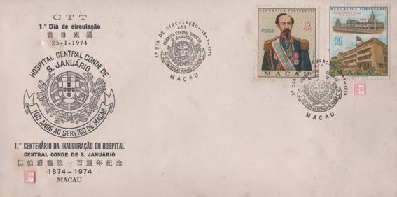 1.º Centenário Inauguração do Hospital ENVELOPE