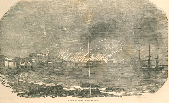 A Ilustração Luso Brasileira 1856 n.º 16 FOTO  Incêndio Bazar
