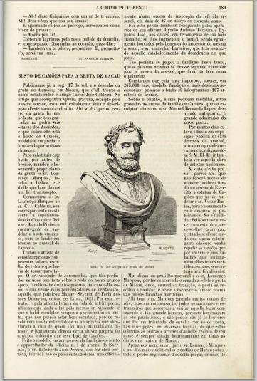 Archivo Pittoresco 1861 - Busto de camões I