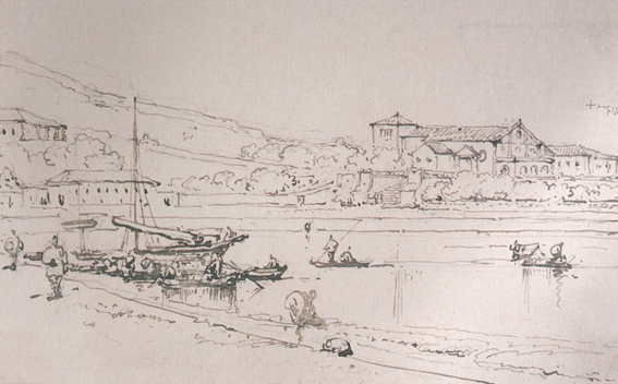 CHINNERY - Vista da Igreja de S. Francisco c. 1837