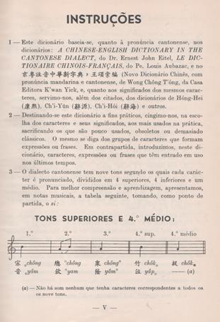 DicionárioChinês-Português 1962 Instruções